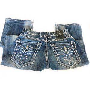 Rock Revival Logan Boot Jeans Embellished Sz 30